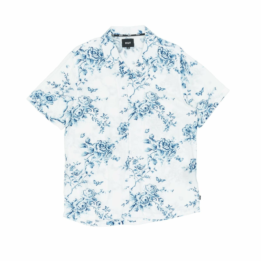 HUF HUF Highline Short Sleeve Woven Shirt | White - TVSC