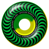 Spitfire Wheels Formula Four Classic 50 50 Swirl 99 Green & Yellow Wheels | 52mm - TVSC
