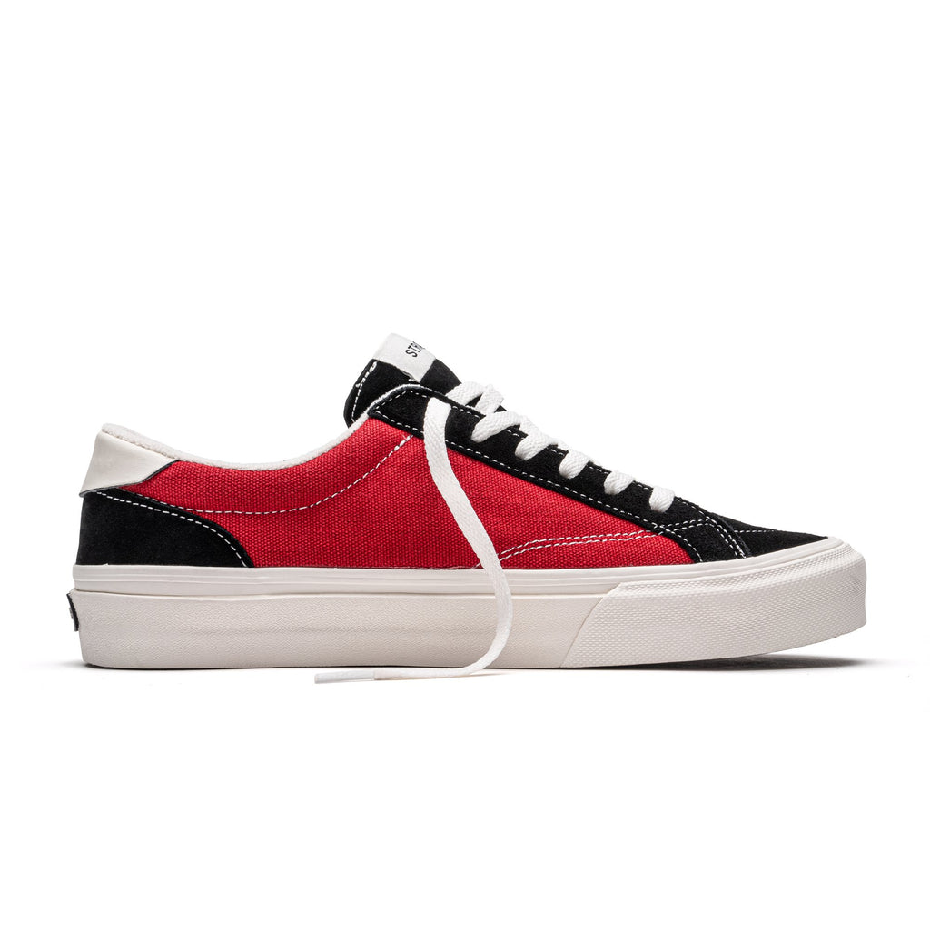 Straye Logan Canvas Skate Shoe | Black & Crimson