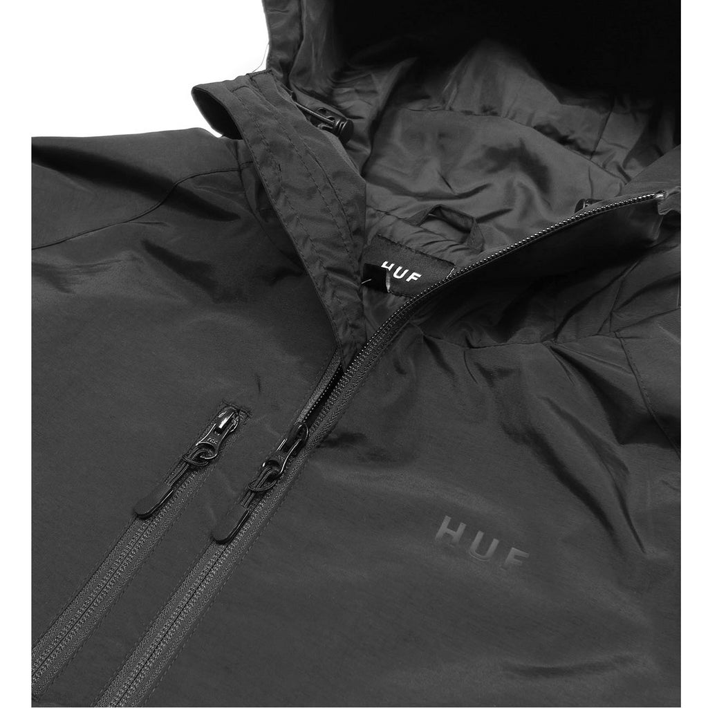 HUF Standard Shell Jacket Close Up Collar | Black