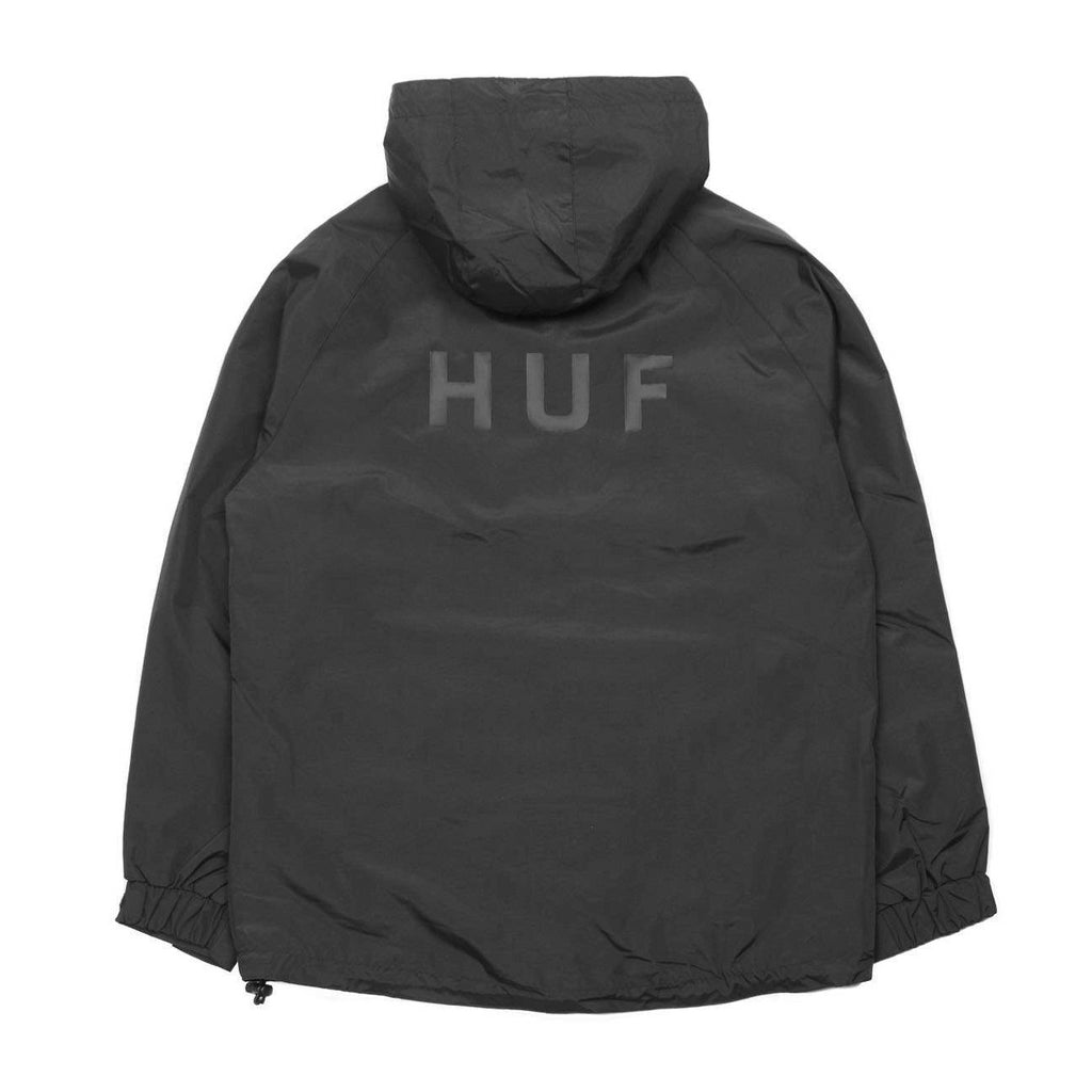 HUF Standard Shell Jacket Flatlay Back | Black