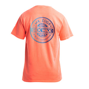 Sex Wax Sex Wax Neon Script Mens T-Shirt | Orange - TVSC
