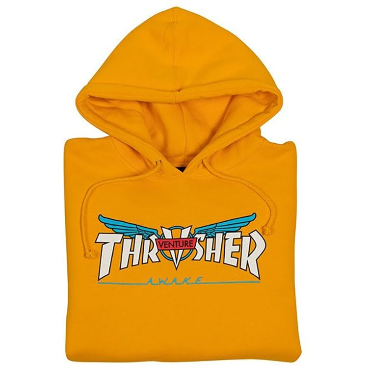 Thrasher X Venture Collab Hoodie | Gold