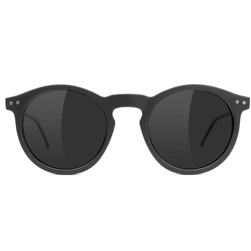 Glassy Glassy TimTim Polarized Sunglasses | Matte Black - TVSC