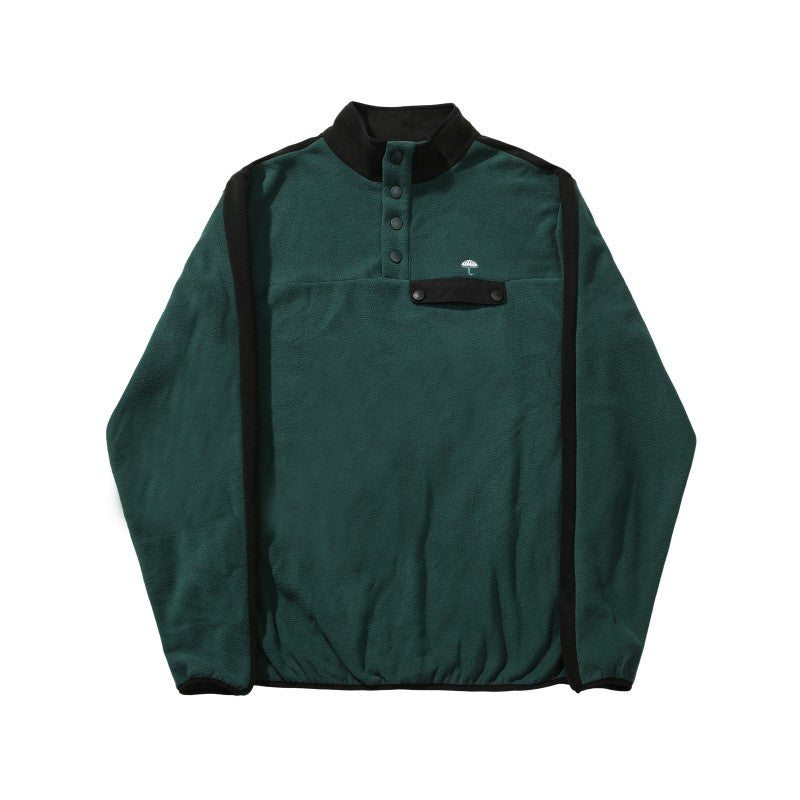 Hélas Tonio Quarter Fleece | Green