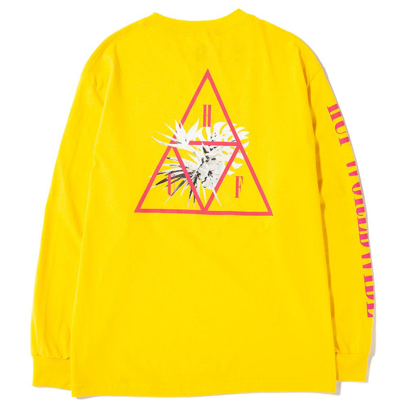 HUF HUF Jungle TT Long Sleeve T-Shirt | Yellow - TVSC