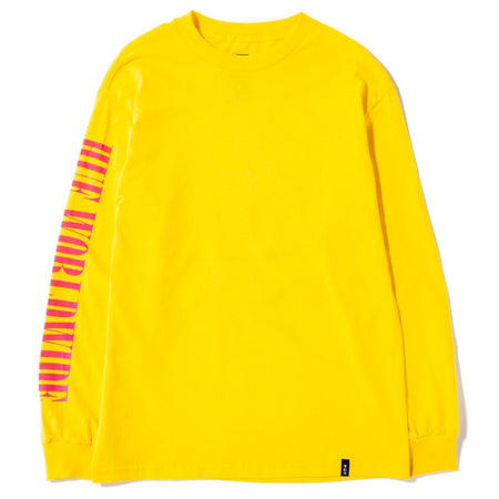HUF Jungle TT Long Sleeve T-Shirt | Yellow - TVSC