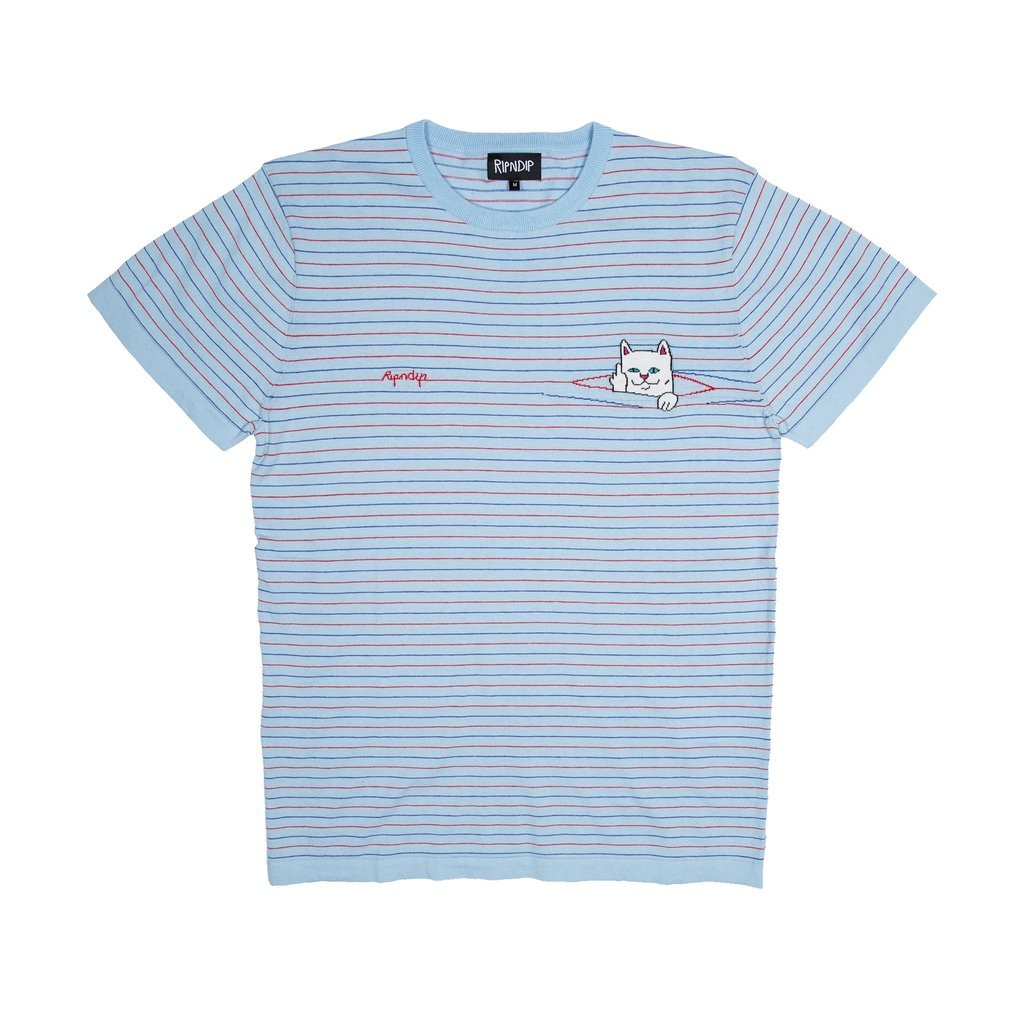RipnDip Peeking Nermal Knit T-Shirt | Blue
