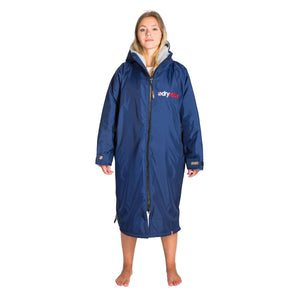 Dryrobe Dryrobe Advance Long Sleeve Changing Robe | Navy & Grey - TVSC