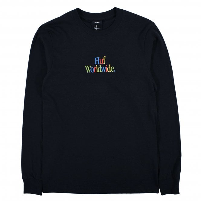 HUF WOZ Embroidery T-Shirt Long Sleeve | Black