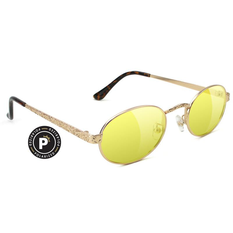 Glassy Glassy Zion Polarized Sunglasses | Gold & Yellow - TVSC