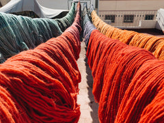 A fresh batch of Hand-Dyed Wool