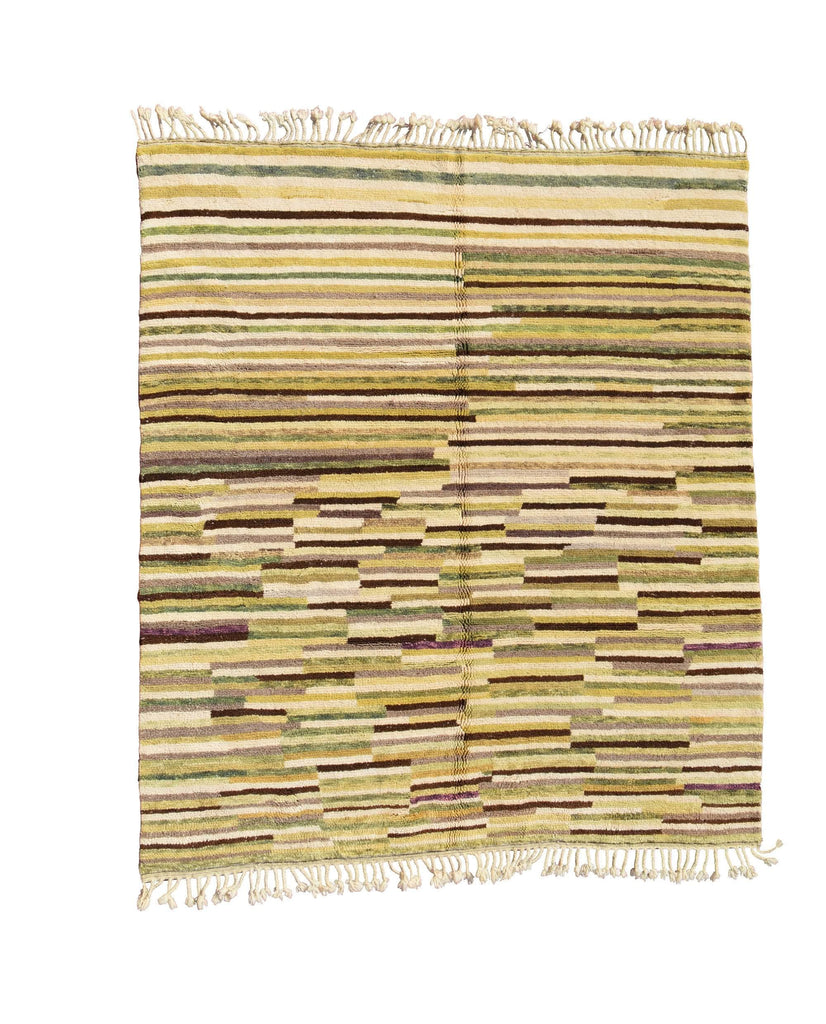 Illuminate Collective handmade Moroccan Rug 1965 - 8'2 x 9'2 - 2.48m x 2.72m