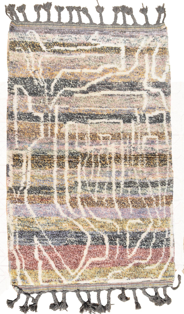 Illuminate Collective handmade Moroccan Rug Enough - 3'4 x 5'2 - 1m x 1.57m