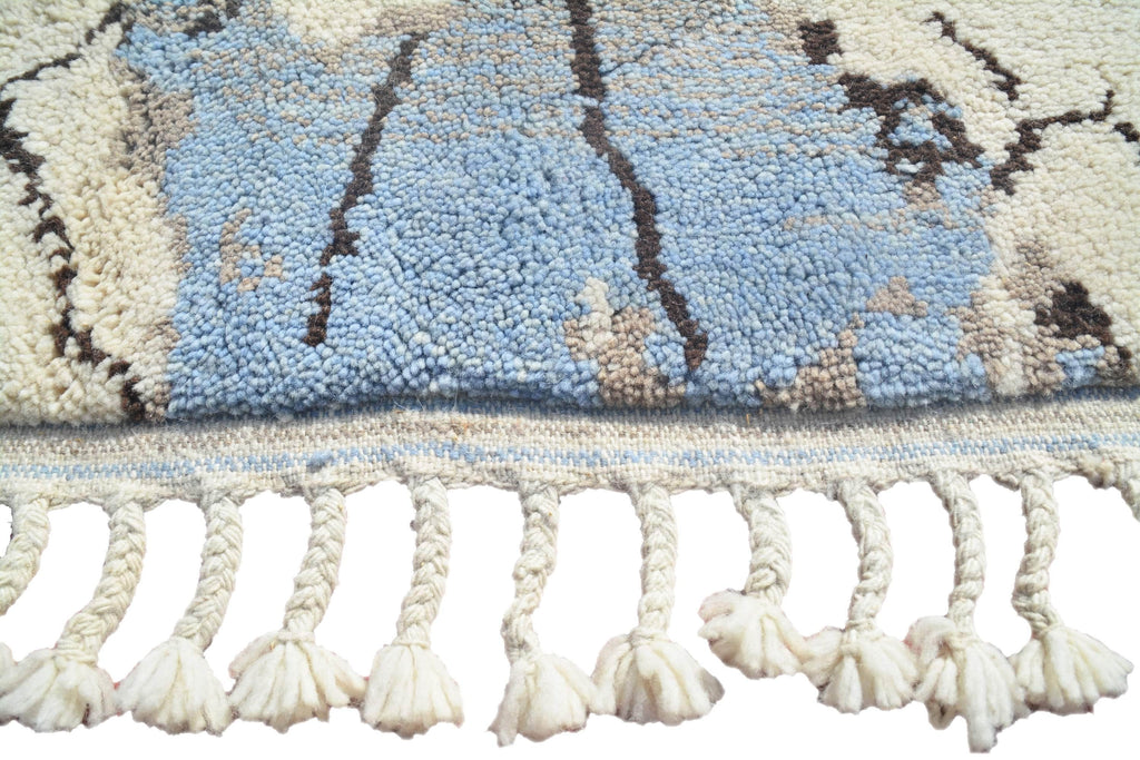 Illuminate Collective  handmade Moroccan Rug Gone - 5'1 x 7'1  - 1.55m x 2.15m