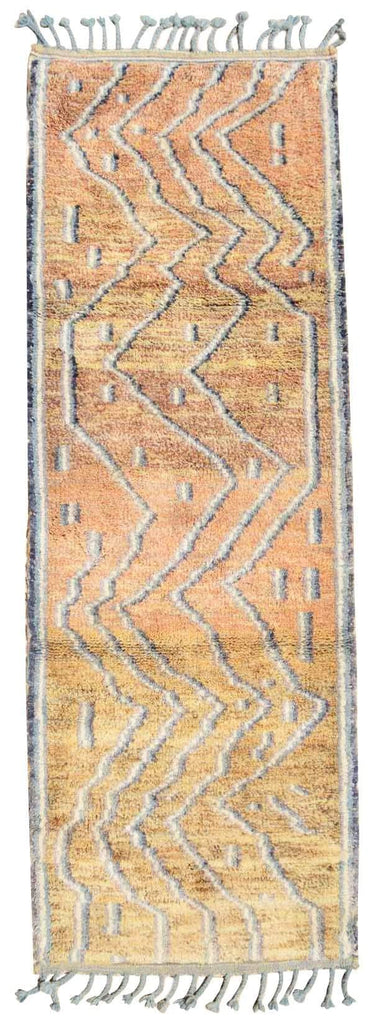 Illuminate Collective handmade Moroccan Rug Long Journey - 2'10 x 7'10 - .86m x 2.38m