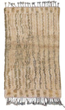 Illuminate Collective  handmade Moroccan Rug Rouah - 3'5 x 5'5 - 1.04m x 1.65m