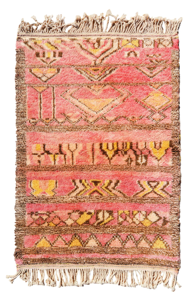 Illuminate Collective  handmade Moroccan Rug Scarlet - 4' x 5'10 - 1.21m x 1.77m