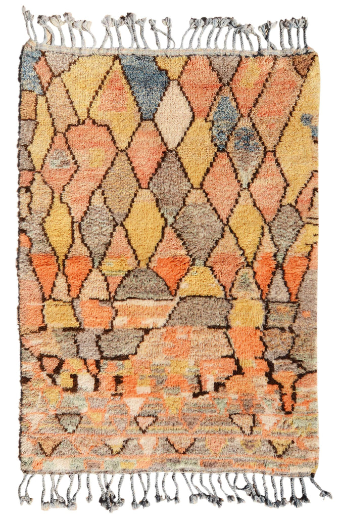 Illuminate Collective  handmade Moroccan Rug Sorbet Skies - 4' x 5'10 - 1.21m x 1.77m