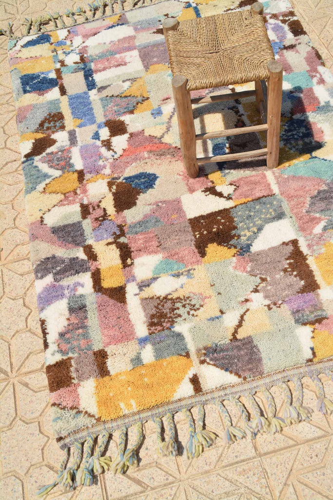 Illuminate Collective handmade Moroccan Rug That High II - 4'2 x 6' - 1.27m x 1.82m