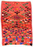 "illuminate collective  handmade Vintage Moroccan Rug Crazy Good - 4'3"" x 5'10""  x  - 1.30m x 1.78m"