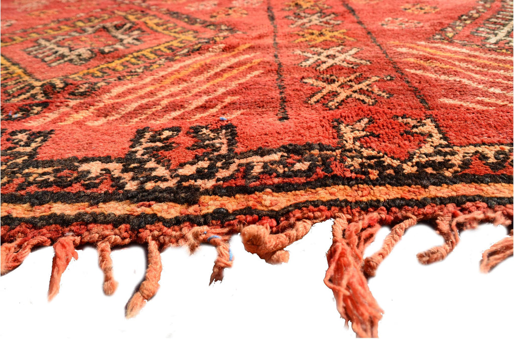 "Illuminate Collective handmade Vintage Moroccan Rug Fine - 6'2"" x 10'10"" - 1.88m x 3.30m"