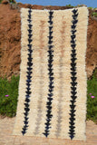 "Illuminate Collective handmade Vintage Moroccan Rug OutToSail - 3' x 5'8"" - 0.91m x 1.73m"