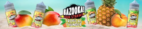 Bazooka Sour Straws Tropical Thunder E-Juice available at eJuices.co
