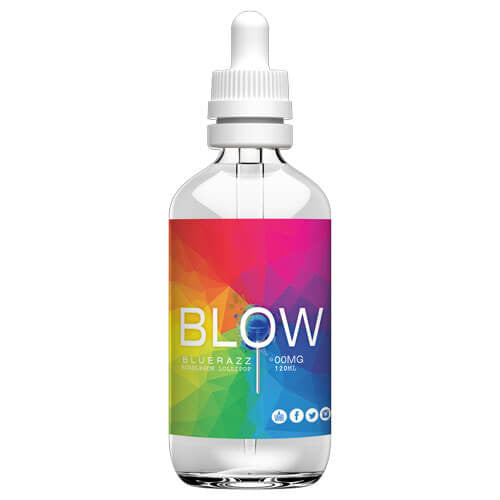 Blow Vape Juice - BlueRazz - 120ml - 120ml / 0mg