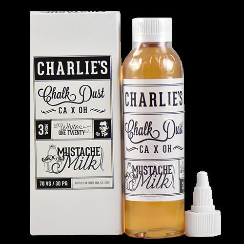 Charlie's Chalk Dust eJuice - Mustache Milk - 120ml - Wholesale on the Top Vape Products and eJuices - eJuices.co