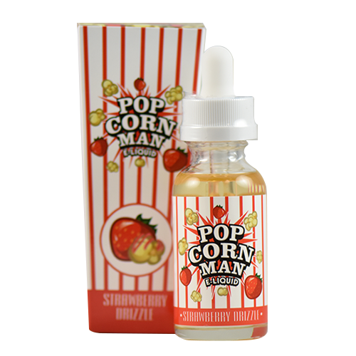 Popcorn Man E-Liquid - Strawberry Drizzle - 60ml - Wholesale on the Top Vape Products and eJuices - eJuices.co