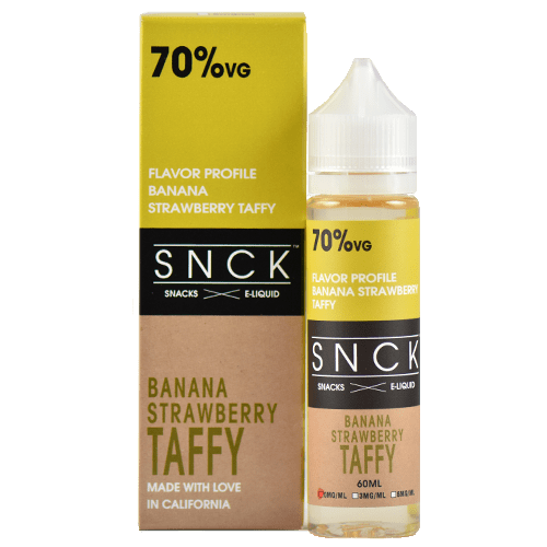 SNCK Snacks E-Liquid - Strawberry Banana Taffy - 60ml - Wholesale on the Top Vape and eJuices - eJuices.co