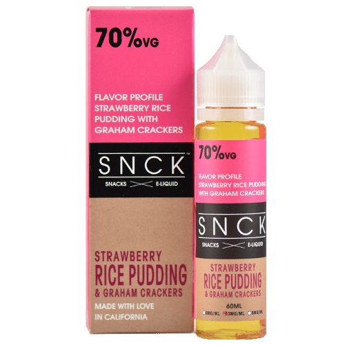 SNCK Snacks E-Liquid - Strawberry Rice Pudding & Graham Crackers - 60ml - Wholesale on the Top Vape Products and eJuices - eJuices.co