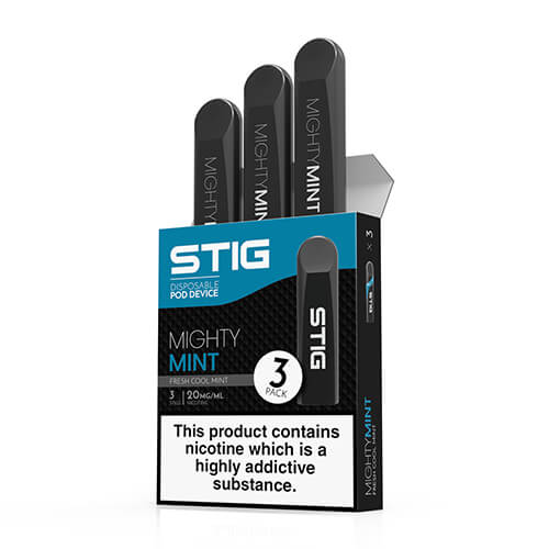 STIG - ULTRA PORTABLE AND DISPOSABLE VAPE DEVICE - MIGHTY MINT (3 PACK)
