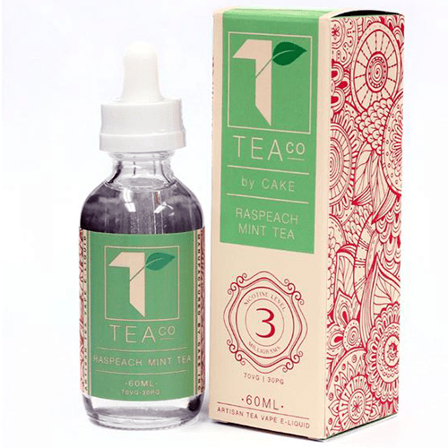 Tea Co. eLiquid - Raspeach Mint Tea - 60ml - Wholesale on the Top Vape Products and eJuices - eJuices.co