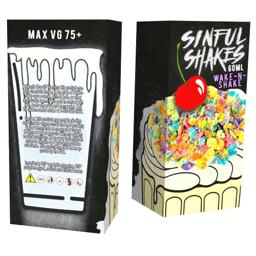 Sinful Shakes E-Liquid - Wake-N-Shake - 60ml - 60ml / 3mg