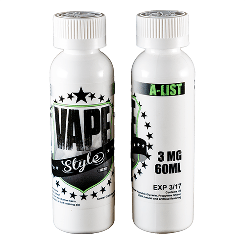 Vape Style E-Liquid - A-List - 60ml - Wholesale on the Top Vape Products and eJuices - eJuices.co