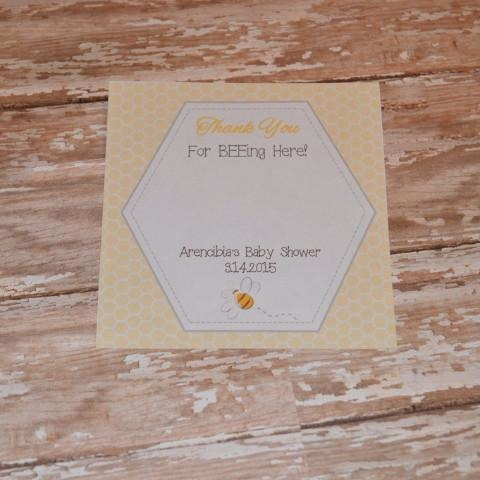 Bee-ing Here Card in Yellow
