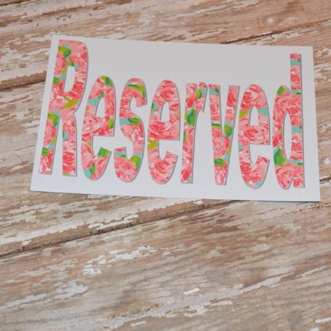 First Impression Reserved Sign