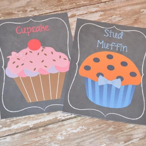 Cupcake & Stud Muffin Signs