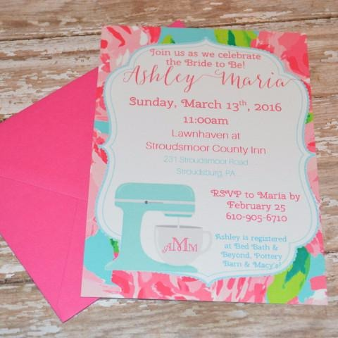 First Impression Bridal Shower Invite