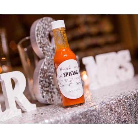Hot Sauce Label for Weddings