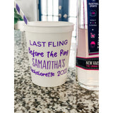 Last Fling Before the Ring - Personalized stadium cup