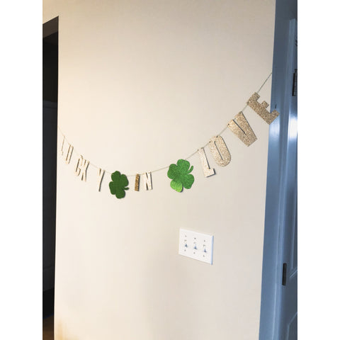 Lucky in Love Glitter Garland