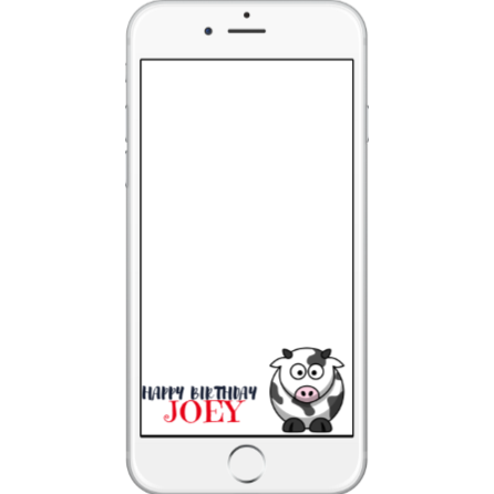 Cow Birthday SnapChat Geofilter
