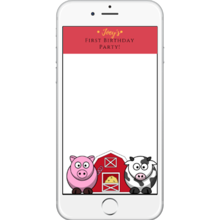 Farm Animal SnapChat Geofilter