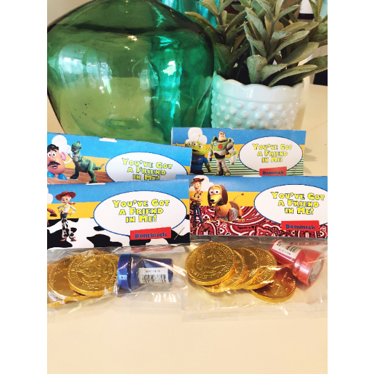 Toy Story Labels for Favor Bags