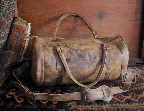 Voyager Leather Duffle Bag - Far Horizon Traders
