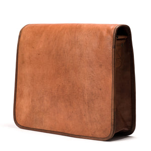 Camel Leather Bag: 10x14 Full Flap Far Horizon Traders
