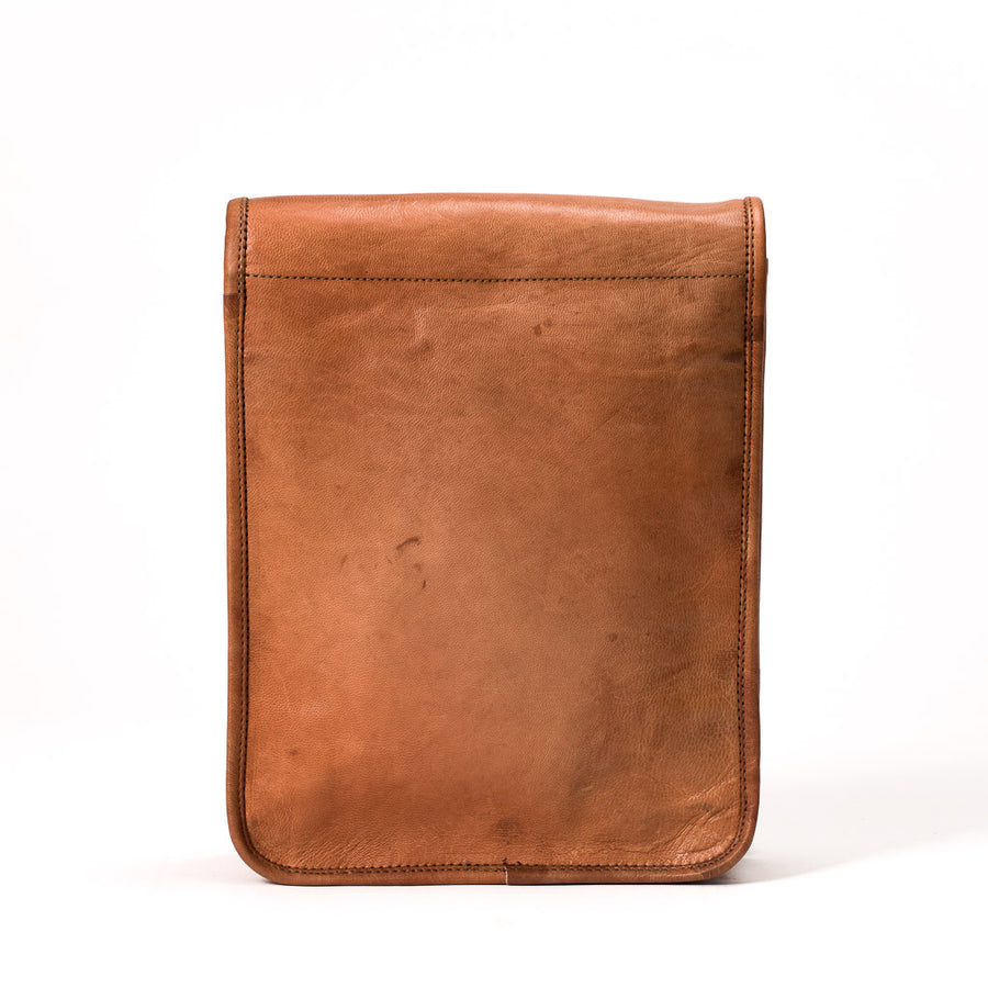 Camel Leather Bag: 9x11 Full Flap Far Horizon Traders